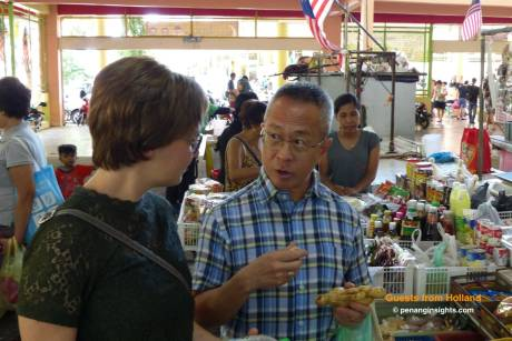 Market tour - learning the ingredients for the class