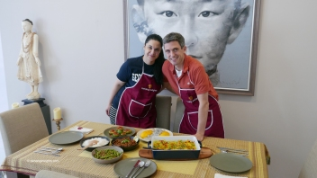 Cooking class with our guests from America