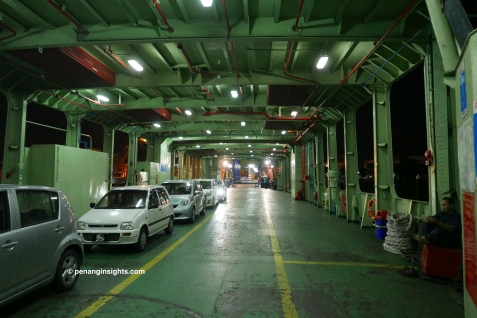 Penang ferry lower deck for vehicles