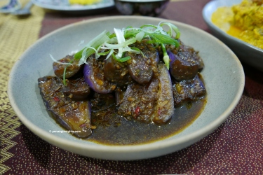 Penang Insights braised eggplants in black vinegar