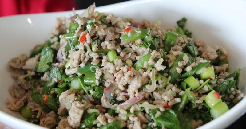 Thai salad pork mince   larb moo